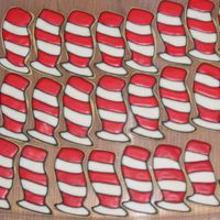 Cat In The Hat Hat Sugar Cookies  I made these for my daughter's kindergarten & my son's preschool Dr Seuss's Birthday class parties on March 2nd. They...