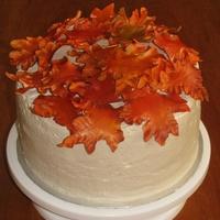 Fall Leaves Ii Vanilla cake with mocha SMBC filling and icing. Gumpaste leaves airbrushed. I got a little carried away with the airbrush. I wanted my...