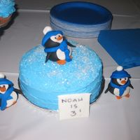 Blue Penguin Mini Cake   This was my son's little cake for his Blue Penguin Birthday.