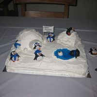 Blue Penguin   My son wanted a blue penguin party for his 3rd birthday. I got my inspiration from this site! Thanks!