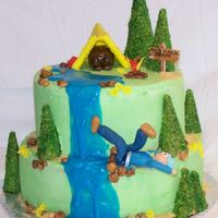 Cub Scouts / Blue And Gold Banquet This is based on a cake by jtka1972. It's buttercream with fondant and royal.