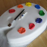 Painter's Palette I made this painter's palette cake for a friend's daughter's birthday. She was having her party at a local art studio and...