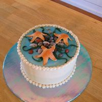 Seaside Birthday I made this cake for a friend's birthday. We had a party at her beach house. It's WASC butter pecan cake with maple buttercream....