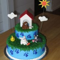 Lots 'o Pets Birthday Cake This cake was made for a friend's daughter's 6th birthday. The party was held at our local SPCA so the pet theme was appropriate...