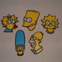 The Simpsons Also got these cutters for 25 cents each. Marge is'nt my favorite, I think I will cut her free hand next time.
