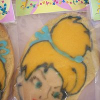Tinkerbell Cookie vainila flavor with royal icing...