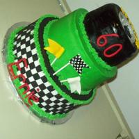 Racing/tire Buttercream with fondant accents