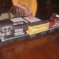 Train Cake For and 80th birthday. The gentleman worked for the railroad.