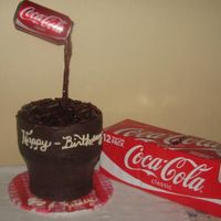 Coke Cake My daughter and sister are born on the same day, 34 years apart.