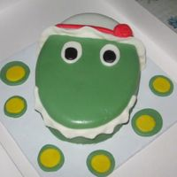 Dorothy The Dinosaur My very 1st fondant cake. This was a smash cake for a 1st birthday.