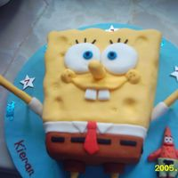 Spongebob everyone loved this cake i made for my friends sons birthday, sponge cake with fondant icing,