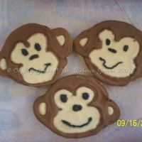 Monkey Cookies!!! These are some of the cookies me and CC'er weirkd made yesterday. My first time making decorated cookies. Had alot of fun and learned...