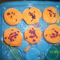 Halloween Cupcakes I made 48 of these cupcakes yesterday, 24 for my daughter's class party, 12 for my work, and 12 for hubby's work. Forgot to take...