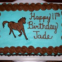 Jade's Horse Cake  This was my first FBCT. It was a simple horse patten, I only used two colors. I couldn't believe how easy it was! I was pleased with...