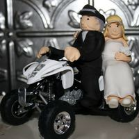 Active Couple This was done for a 50th Wedding Anniversary. They love to jet ski, boat, hunt and go quading! The cake is a mountain showing pieces for...
