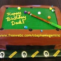 Pool Table Cake For Dad