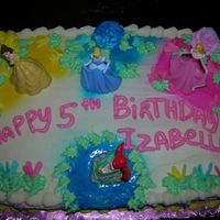 Princess cherry chip cake with the disney princess on them