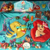 Little Mermaid es fondandt , chocolate de modelar , icing , todo comestible