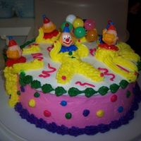Wilton Course 1 Cake My clown cake for my course 1 class.
