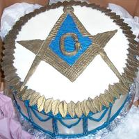 Free Mason Cake  I did a cake like this for my son's b'day so when there was a dinner at his lodge, he wanted me to do a cake for that event. So...