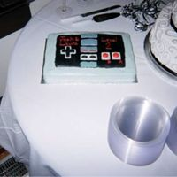 Nintendo Cake Old style Nintendo controller Groom's cake for my brother's wedding. I didn't do the wedding cake though.