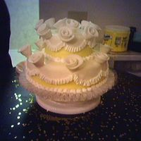 Rose And Fondant Yellow I did this one for my mom and dad's anniversary. Bad quality pic, I'm sorry.