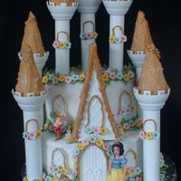 Princess Castle Done for my neices 3rd birthday. Buttercream icing. Flowers done in fondant.
