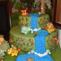 Junlge Cake I made this cake for my son's 1st birthday. It was so fun!!!