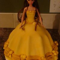 Belle Doll Cake   My first attempt at a doll cake - for my neices 4th birthday.