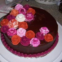 My First Cake- Course 1 (Roses) This is my first attempt at roses. I really enjoyed making them but took a while to get the icing consistency right!