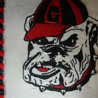 Georgia Bulldogs georgia bull dog cake. i have never had any luck with fbct but i thought i'd try it again. i was much more pleased this time around....
