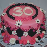 30Th Birthday Cake Just some fondant fun.