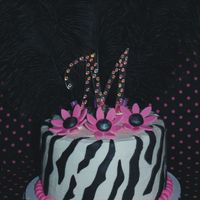 Zebra Graduation This is actually a graduation cake. It was very fun to do, no stressing which was nice. Thanks for looking.