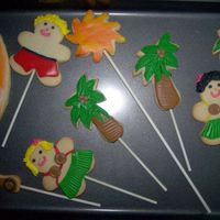 Palm Trees, Surfer Dude Hula/Hawaiian theme. Cookies are NFSC covered in MMF.