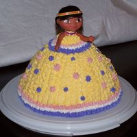 Dora Doll Cake This was for my niece's 2nd birthday. She loves Dora, and this is a doll that she actually got to keep. This was my first attempt at a...
