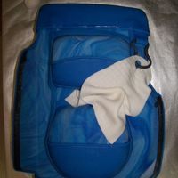 Golf Bag Groom's Cake - 1st time attempting this cake. My inspiration was from merissa (OK, ok - I TOTALLY copied...but I emailed Merissa and...
