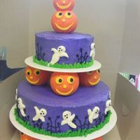 Spooky And Cute I used a Wilton idea from their website to create this cake. It was so cute. I think the purple was a little too strong and was bitter by...