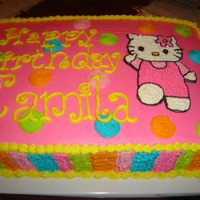 Hello Kitty Two-layer cake in buttercream.