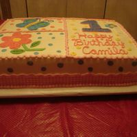 1St Birthday First birthday cakes for little girl. Idea from CC. All buttercream