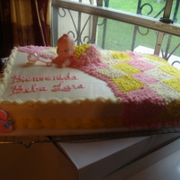 Baby Shower Girl Baby shower cake in buttercream. Thanks for idea CC'er.