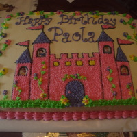 Castle Sheet Cake Vanilla cake in buttercream. Thank you GoJacks98, DiscoLady and other CC'ers for your ideas.