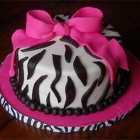 Zebra Stripes Covered and decorated with fondant.
