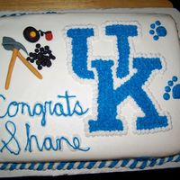 Uk Mining Birthday This is a cake that I made for a boy graduating from the University of Kentucky with a mine engineering degree. The cake is covered in...