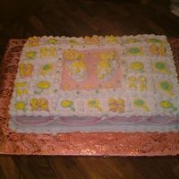 Baby Bootie Shower Cake I want to give thanks to the person that orginally posted their cake like this. I loved doing this cake. It was a pina colada cake with...