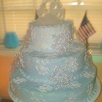 Snowflake Cake This is the cake I did for my brother's wedding. I don't remember the person that created it first but thank you. It was a huge...