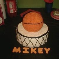 Son's 10Th Birthday Cake My turn for making the basketball cake.........lol.