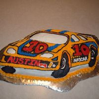Nascar Cake Nascar shaped pan cake I made for my nephew's 10th birthday.
