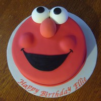 Elmo Cake Elmo cake with all fondant features. This was copied from a cake that a friend found online and asked me to duplicate (but I think that one...