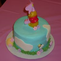 Winnie The Pooh Smash Cake This went with my daughter's Winnie the Pooh cake that I made for her first birthday. Thank you to everyone who posted similar cakes...