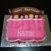 Slumber Party Cake I did this a couple of years ago- a friend's daughter was having her very first slumber party. The girls are fondant as are the...